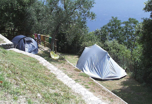 Camping au lac de Garde